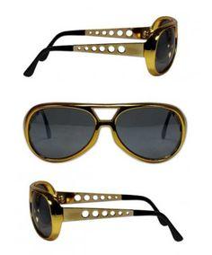 Elvis Presley 1970's Gold Sunglasses