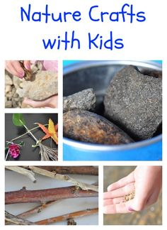 Neat, nature crafts with kids! Get outside. Get the kids interested in something other than the TV or the computer. Nature Activities, Craft Activities For Kids, Projects For Kids, Diy For Kids, Preschool Crafts, Land Art, Crafts To Do, Crafts For Kids, Theme Nature