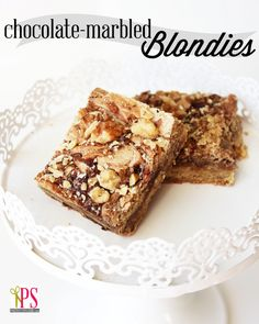 Chocolate-Marbled Blondie Bar Cookie Recipe | Positively Splendid {Crafts, Sewing, Recipes and Home Decor}