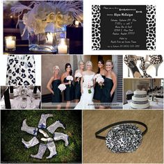 love this theme of black and white leopard!