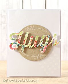 Hugs card by Joy Taylor