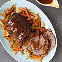 Slow Cooker Traditional Pot Roast and Sides