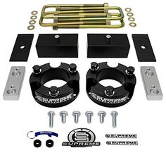 "Supreme Suspensions - Toyota Tacoma Full Lift Kit 3"" Front + 3"" Rear Aircraft Billet Strut Spacers and Lift Blocks + U-Bolts + Sway Bar Brackets + Axle Shims. For product info go to:  https://www.caraccessoriesonlinemarket.com/supreme-suspensions-toyota-tacoma-full-lift-kit-3-front-3-rear-aircraft-billet-strut-spacers-and-lift-blocks-u-bolts-sway-bar-brackets-axle-shims/"