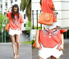 Connie Cao - Three Floor Top, Zara Skorts, Deadly Ponies Bag - THE FUTURE IS NOW