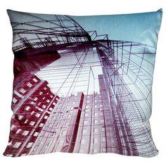 Skyscraper Digital Print Pillow on AHAlife