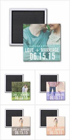 Save The Date Wedding Fridge Magnets