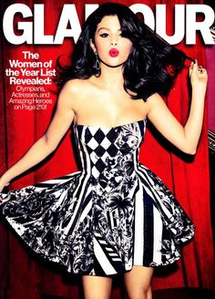 Selena Gomez for Glamour 2012 - Love that she is coming into her own and love this dress!