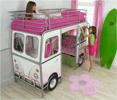 Cute bed for a girls room