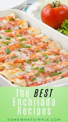 Best Dinner Recipes, Great Recipes, Favorite Recipes, Mexican Cooking, Mexican Food Recipes, Casserole Recipes, Crockpot Recipes, Best Enchiladas, Healthy Weeknight Meals