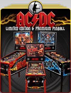 Stern Pinball Machines. AC/DC is one of the newer machines in the collection and it's a lot of fun!