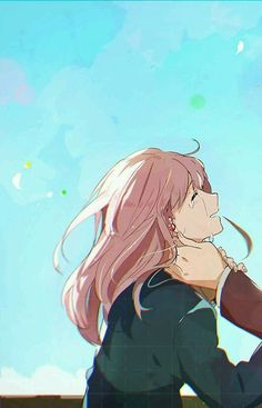 / Koe no Katachi // A Silent Voice // Shouko Nishimiya Sad Anime, Anime Kawaii, Manga Anime, Anime Films, Anime Characters, Animes Wallpapers, Cute Wallpapers, Koe No Katachi Anime, A Silent Voice Anime