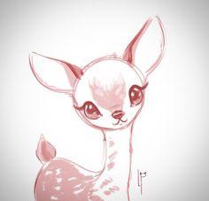 Drawn buck cute #10