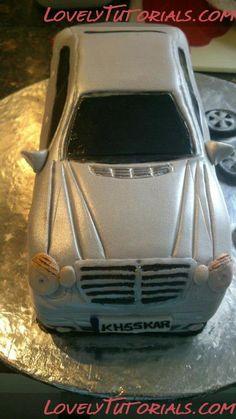 Blue benz logo with key mercedes benz cake 7th birthday for Mercedes benz dealership flemington nj