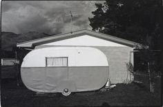 Caravan, Cromwell, 1977, 1977, Cromwell, by Laurence Aberhart. Purchased 2008. Te Papa (O.031696)