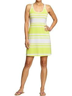 Old Navy dress for moms, matches Tea collection yellow stripe dress and shirt