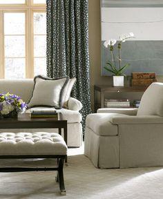 Alexa Hampton Kravet Furniture Hickory Chair Padded Coffee Table Top