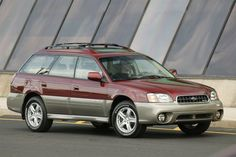 2004 subaru outback red want!!!!!! <3