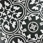 Merola Tile Arte Black 9-1/2 in. x 9-1/2 in. Porcelain Floor and Wall Tile (10.76 sq. ft. / case) FCD10ARB at The Home Depot - Mobile