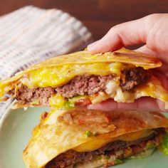 No longer do you have to choose between a quesadilla or a burger.*(FOR LOW CARB USE A LOW CARB WRAP OR TORTILLA)*