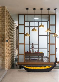 Creative and Modern Tips Can Change Your Life: False Ceiling Square Living Rooms false ceiling ideas brick walls.False Ceiling Bedroom With Fan. Pooja Room Door Design, House Design, Temple Design For Home, Mandir Design, Contemporary House, Room Partition Designs, Ceiling Design, Room Door Design, Home Temple