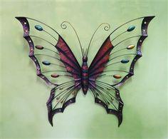 Butterfly Splendor Metal Wall Art