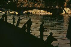 ERNST HAAS ESTATE | COLOR Fishing in the Seine River, Paris, 1955