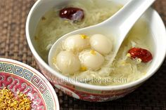 Baby Tang Yuan or Glutinous Rice Balls in Boozy Sweet Soup--catchy name for this dessert, right?