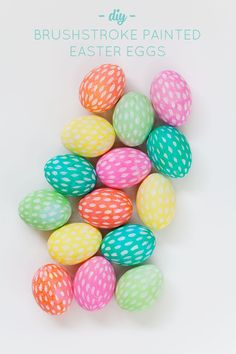DIY Brushstroke Painted Easter Eggs