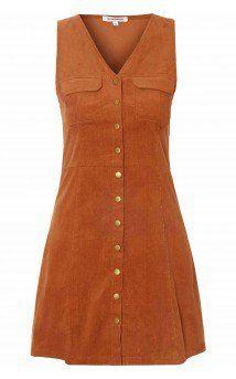 Rust Corduroy A-Line Dress