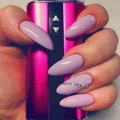 light purple acrylic nails - 730×730
