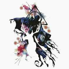 Harry Potter Art | When you look close at it you can see a stag, a dementor and of course the three deathly hallows
