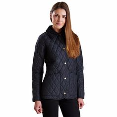 c08ccbeb9e22 Montrose Quilted Jacket in Black by Barbour