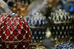 Faberge Eggs filled with treats for guests to take home
