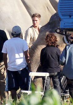 Robert Pattinson filming latest movie