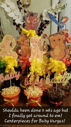 Lion king Babyshower Centerpieces super easy n cheap Lion King Nursery, Lion King Theme, Lion King Party, Lion King Birthday, 1st Boy Birthday, Jordan Baby Shower, Lion King Baby Shower, Cheap Baby Shower, Baby Shower Themes