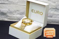 Relógio Euro com  20% a 50% de desconto.  Loja: Anne Felber.