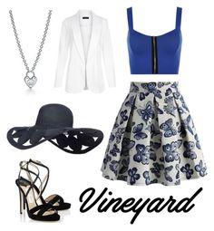 """vine yard wedding"" by adela-pysova ❤ liked on Polyvore featuring Chicwish, WearAll, Jimmy Choo, New Look, Tiffany & Co., napa, winerywedding, bestdressedguest and vineyardwedding"
