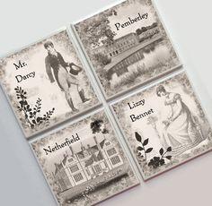 Pride and Prejudice Jane Austen -- Ceramic Tile