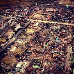 Devastation in the wake of typhoon Yolanda (Haiyan) in Tacloban, Leyte Philippines 09-11-2013