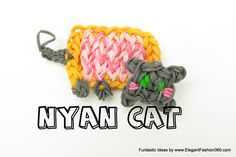 How to make Nyan Cat on Rainbow Loom - Simply Funtastic