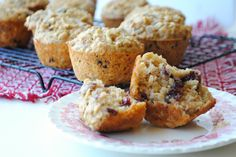 Apple-Oat Muffins with Cranberries & Pecans - Three Many Cooks