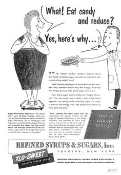 vintage sugar ads try to convince the public that sugar is good for them 1959 - early example of corporate greed Funny Vintage Ads, Vintage Humor, Retro Vintage, Vintage Food, Old Advertisements, Funny Advertising, School Advertising, Feeling Hungry, Retro Ads