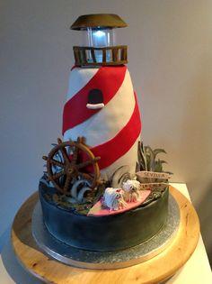 Lighthouse Cake for Tati