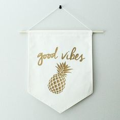 Canvas Banner - Good Vibes - Little & Lively