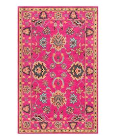 Loving this Pink Montesque Wool Rug on #zulily! #zulilyfinds