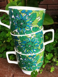 70s Style Teacups