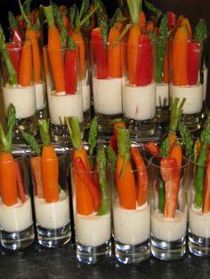 veggie cocktail food