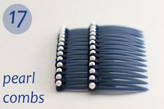 flax & twine: Day 17: Pearl Combs - a diy hair accessory