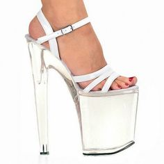 (62.90$)  Watch more here - http://ai30h.worlditems.win/all/product.php?id=32764405674 - Fashion sexy transparent sandals set auger chain ultra slim heel sandals 12 appeal runway show shoes on sale
