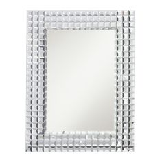 This Bling collection decorative rectangular mirror features a multi-beveled tile mirror frame with mirror insert and a clear finish.  This design is sure to create a bold statement in any setting through out your home. Mounts horizontal or vertical.